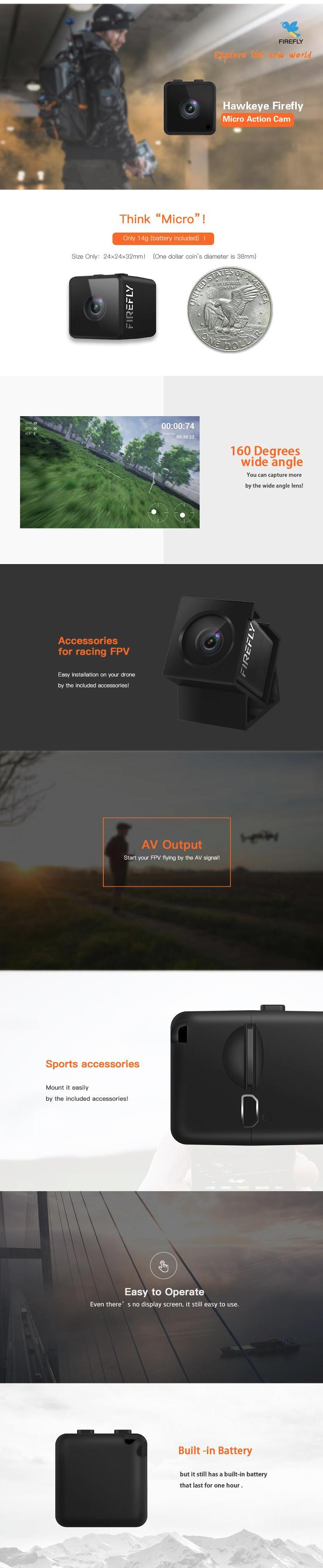 Caméra Hawkeye Firefly HD 1080p